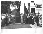 Dedication of monument to birthplace of Fred Vinson, 1950