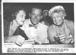 (L to r): Mrs. Paul Butler, Elliot Roosevelt, Eleanor Roosevelt, 1956