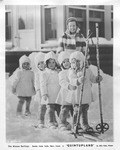 """Dionne quintuplets in movie """"Quintupland"""", 1938"""