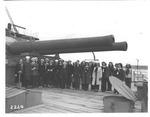 ladies of First Mariner Troop, on deck of Mikassa, 1947
