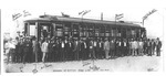 Ohio Valley Electric RR car on opening of line to Ritter Park, Huntington, 1913