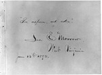 Photo of a page with james E. Morrow signature, 1872