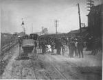 public gathering at C&O RR station, Huntington, W.Va., ca. 1880's