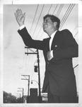 John F. Kennedy, probably on his 1960 campaign trip through W.Va.