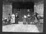 Enslow family with animals, ca. 1900