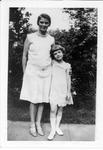 Catherine Enslow, left, Gloria Heath on right, ca. 1920