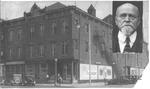 Davis Opera House, Huntington, W.Va., inset of Ben Davis, ca. 1920's