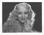 Autographed photo of Sally Rand, ca. 1930's