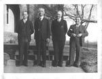 Marshall personnel: W. N. Beetham, Pres. Morris Shawkey, unident., Juan C. Fors
