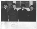 prof. Curtis Baxter, Pres. James E. Allen, 2 unidentified men, ca. 1940
