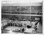 Army induction at Memorial Field House, Huntington, ca. 1944