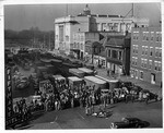 Scrap drive, Fifth Avenue, Huntington during WWII