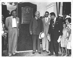 Fred Vinson at dedication of his birthplace monument, 1950