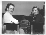 Pat Nixon (right) and Mrs. William Rogers at the Greenbrier, ca. 1950's