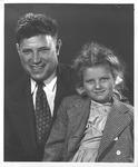 Jesse Stuart with daughter Jane, late 1940's
