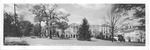 Panoramic postcard view of Greenbrier Hotel