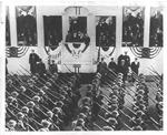 Pres. Franklin Delano Roosevelt reviewing 3rd term inaugural parade, 1941