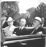 Pres. Franklin Delano Roosevelt in motorcade