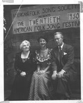 Marion Kerby, Virginia Davis & Ray McFeeters, 20th American Folk Song Festival, 1950