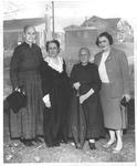 Catherine Enslow, Jean Thomas, Aunt Polly Triplett & Rosie Day, 1956