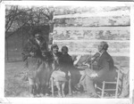 Jilson Setters with fiddle, Dorothy Gordon seated, standing Jean Thomas