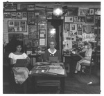 Jean Thomas (far right) in her office, 1962