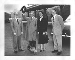 Duke & Duchess of Windsor, at White Sulphur Springs train station, 1950