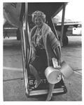 Dagmar at Tri-State Airport, 1959