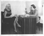 Dagmar being interviewed by Catherine Bliss Enslow, 1957