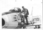 Capt. Larry D. Matthews of Huntington and his F-86 Sabre jet