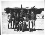Canadian Air Force B-24 Liberator bomber with crew in North Africa