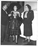 Catherine Bliss Enslow, Pierre Balmain and model Praline at Greenbrier