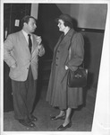 Catherine Bliss Enslow with violinist Isaac Stern