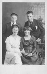 Catherine Bliss Enslow, (left), Elizabeth McCoach, 2 unidentified men