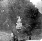 Catherine Bliss Enslow on horse