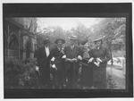 Wiatt Smith & ladies, Alice Enslow on far right, Grace second from right, b&w