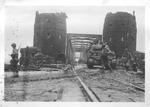 Bridge at Remagen, Ger. after capture by U.S. troops, 1945