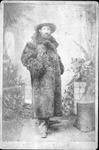 Uninidentified man in buffalo or bearskin coat