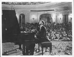 Autographed photo of Van Cliburn performing in Moscow