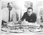 Walt Disney and John Hench planning Disneyland