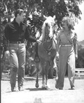 Clark Gable and Carole Lombard with horse