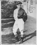 Autographed photo of jockey W. L. Taylor
