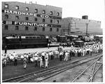 1st B&O RR diesel engine into Huntington, 1951