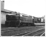1st B&O RR diesel engine into Huntington, 1951