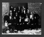 Unidentified workers outside Huntington business, ca. 1900