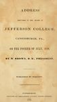 Address Delivered in the Chapel of Jefferson College, Canonsburgh, PA., on the Fourth of July, 1839 by Matthew Brown