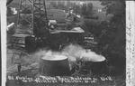 Oil flowing in tanks, Benj. Anderson Jr. well, Shinnston, W.Va.