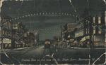Looking east on 3rd from 9th St., night scene, Huntington, W. Va., 1911.