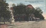 Fifth avenue hotel and public fountain, Huntington, W. Va., 1915.