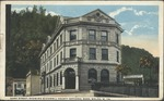 Bank Street, Showing McDowell County Natl Bank, Welch,WVa
